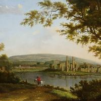 Neath Abbey with the town beyond. , Hendrick Frans De Cort